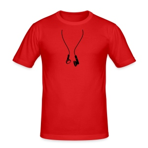 Headphones - Slim Fit Shirt - Men - Men's Slim Fit T-Shirt