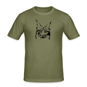 tier t-shirt luchs lynx cougar wild cat katze raubtier löwe tiger wolf - Männer Slim Fit T-Shirt