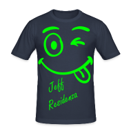 T-shirts ~ slim fit T-shirt ~ Men Slimfit: Jeff Residenza - Just kidding Smiley (neon lime)