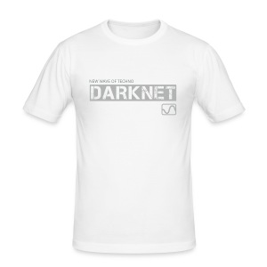 Darknet Label T-Shirt (White) - Men's Slim Fit T-Shirt
