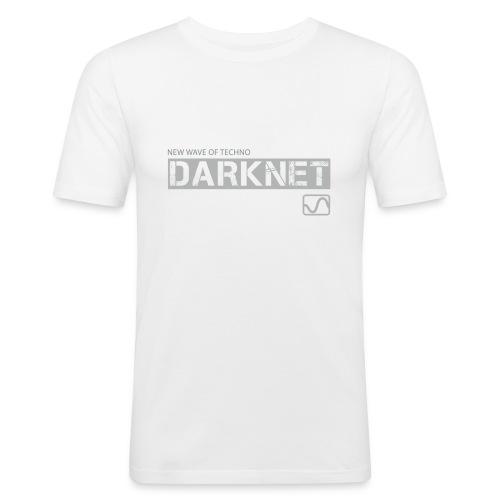 Darknet Label T-Shirt (White) - Men's Slim Fit T-Shirt