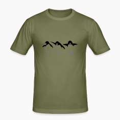Khaki green Penguin Men's T-Shirts