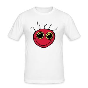 Fantazia Classic red smiley logo - Men's Slim Fit T-Shirt