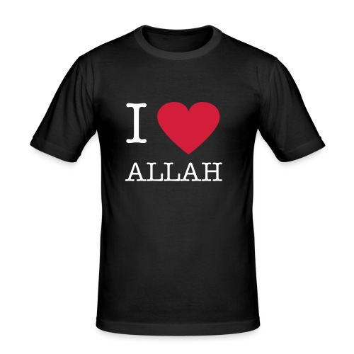 I heart ALLAH Black Men's Slim Fit T-shirt Black  - Men's Slim Fit T-Shirt