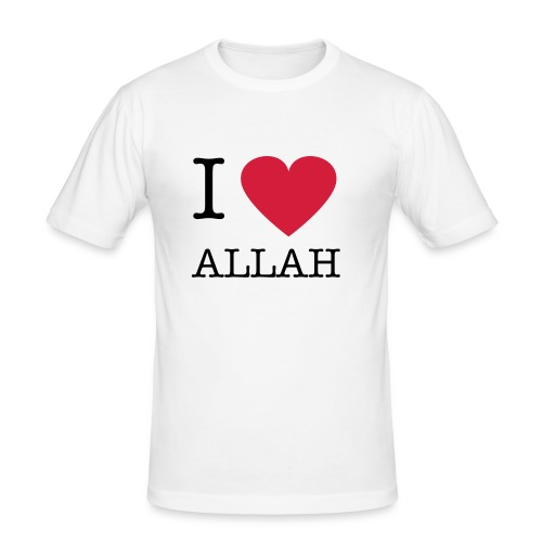 I heart ALLAH Slim Fit T-shirt White - Men's Slim Fit T-Shirt