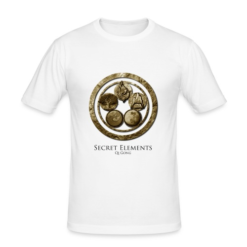 Secret Elements Practitioner Shirt - Men - Männer Slim Fit T-Shirt