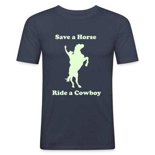 Slim-Shirt Save a Horse - Männer Slim Fit T-Shirt