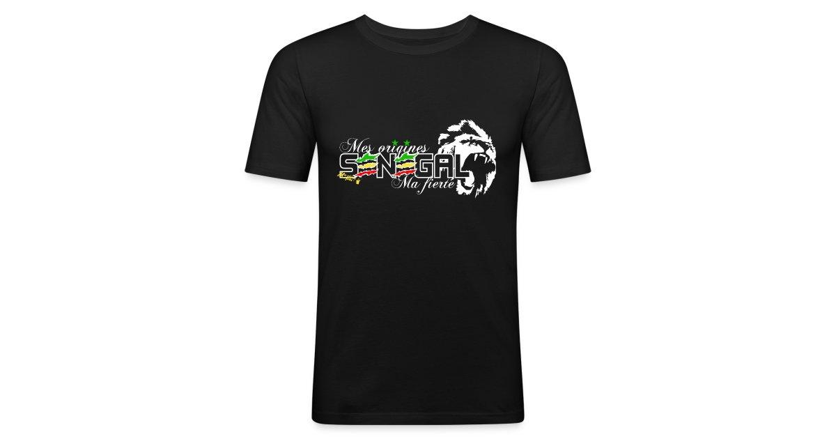 Mes Origines Ma fierté - La boutique officielle en ligne - Vente de  t-shirts   SENEGAL noir cintré - T-shirt près du corps Homme 5bf01810d1e