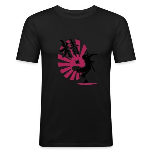 HACK NINJA (gelb/magenta-schwarz) - Männer Slim Fit T-Shirt
