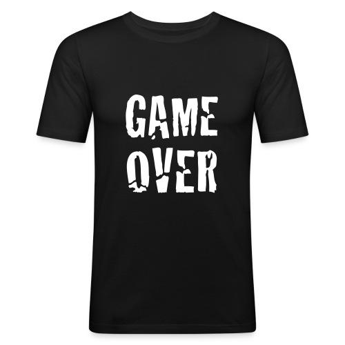 Game Over. - Miesten tyköistuva t-paita