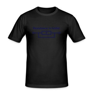 resistance is futile! T-Shirts - Men's Slim Fit T-Shirt