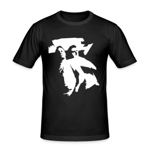Beatmashers Slim Shirt -  black Logoprint - Männer Slim Fit T-Shirt