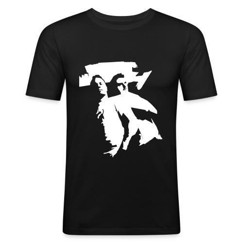 Beatmashers Slim Shirt -  black Logoprint - Männer Slim Fit T-Shirt