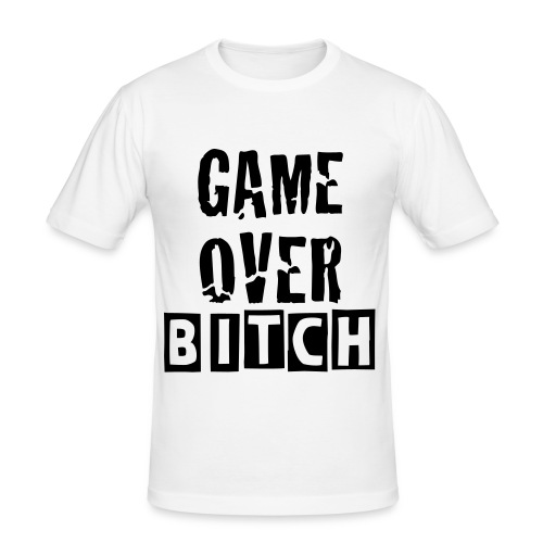 game over bitch - passar både tjej o kille - Slim Fit T-shirt herr