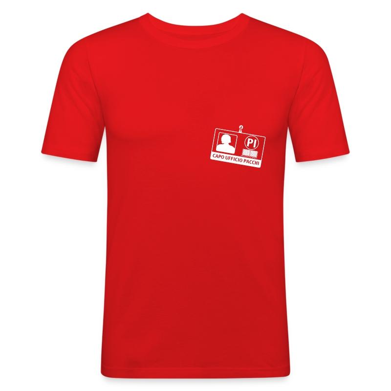 Capo Ufficio Pacchi (SCRITTA BIANCA - MAGLIETTA TUTTI I COLORI) - Maglietta aderente da uomo