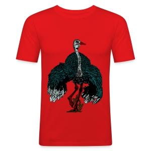 mannen T-shirt met struisvogel - slim fit T-shirt