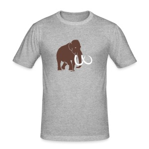 tier t-shirt mammut mammoth steinzeit jäger höhle elefant outdoor - Männer Slim Fit T-Shirt