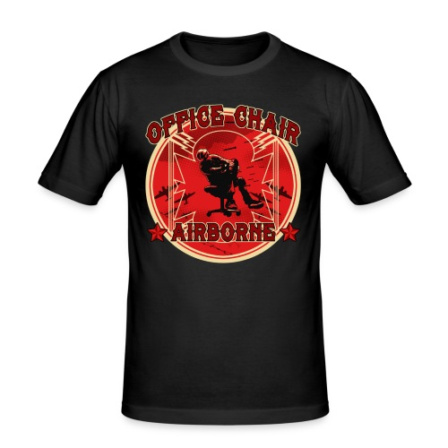 Office Chair Airborne - Men's Slim Fit T-Shirt