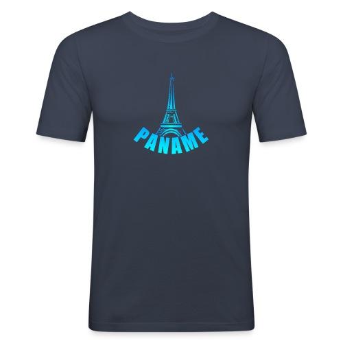 T-shirt paname tour eiffel paris - T-shirt près du corps Homme