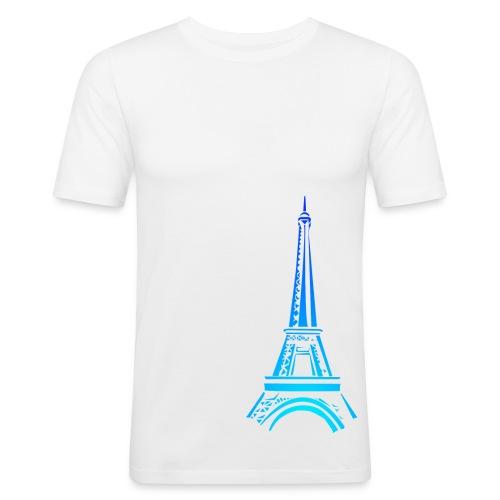 T-shirt paris tour eiffel - T-shirt près du corps Homme