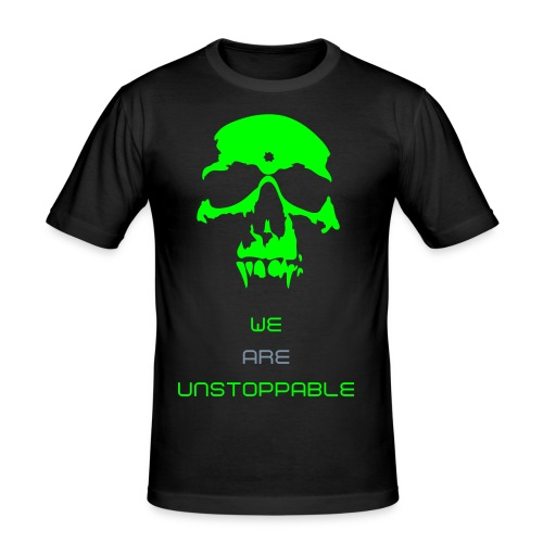 HSD Patented T-shirt (Black,Silver/Neon Green) - Men's Slim Fit T-Shirt