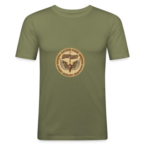 Homme tee shirt pres du corps Gazoon olive hot rod - T-shirt près du corps Homme