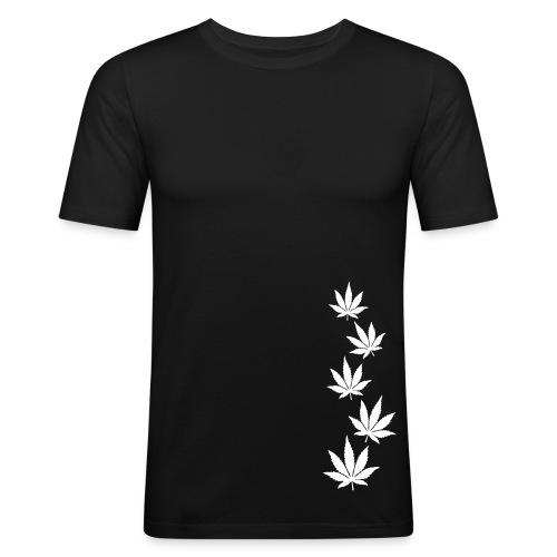 tee shirt près du corps weed - T-shirt près du corps Homme