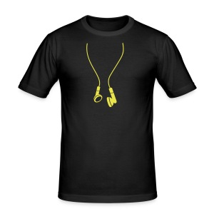 HEADPHONES - Männer Slim Fit T-Shirt
