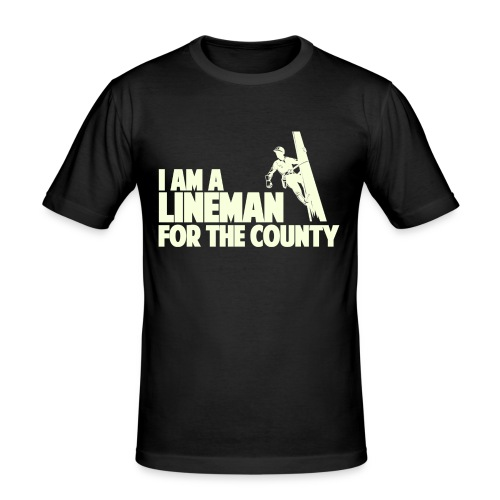 Lineman for the County - Men's Slim Fit T-Shirt