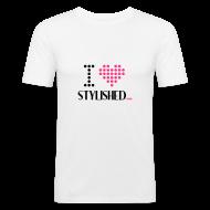 T-Shirts ~ Männer Slim Fit T-Shirt ~ I LOVE MODELS Slim Fit