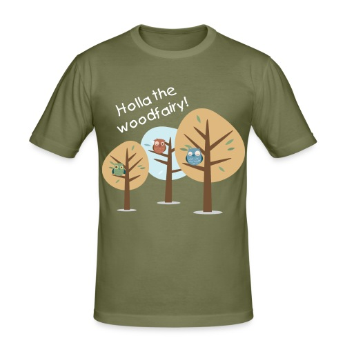 Holla the woodfairy - Männer Slim Fit T-Shirt