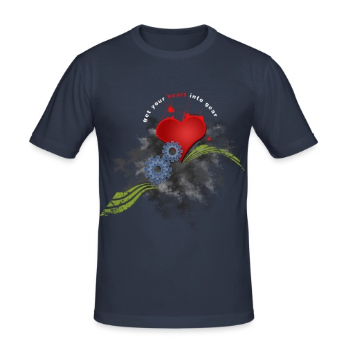 Cycling, get your heart into gear t-shirt - Men's Slim Fit T-Shirt
