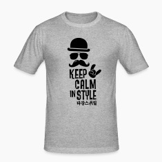 Like a keep calm in style bigote boss Camisetas