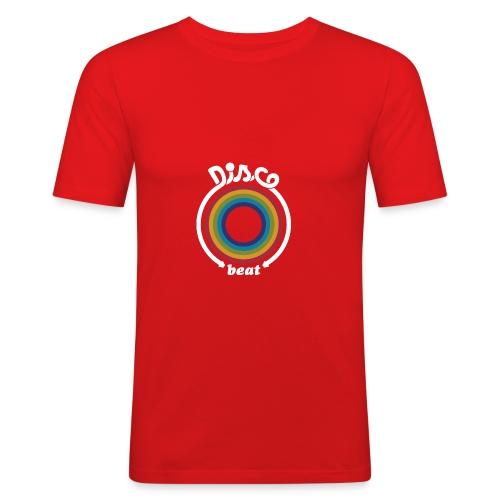 Homme tee shirt pres du corps Gazoon rouge disco beat - T-shirt près du corps Homme