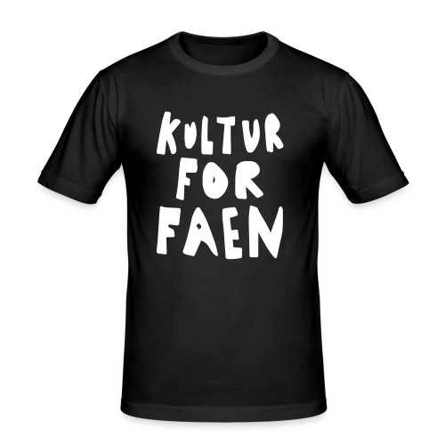 Kultur for faen, menn - Slim Fit T-skjorte for menn