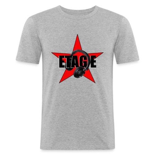 logo front - Männer Slim Fit T-Shirt