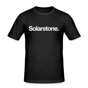 Solarstone [Male] White on Black - Men's Slim Fit T-Shirt