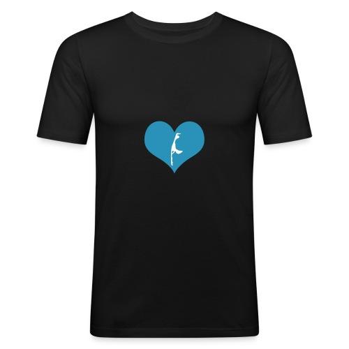I Love Sylt Slim Fit - Männer Slim Fit T-Shirt