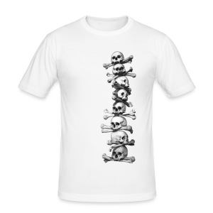 Skull T shirt - white - Men's Slim Fit T-Shirt