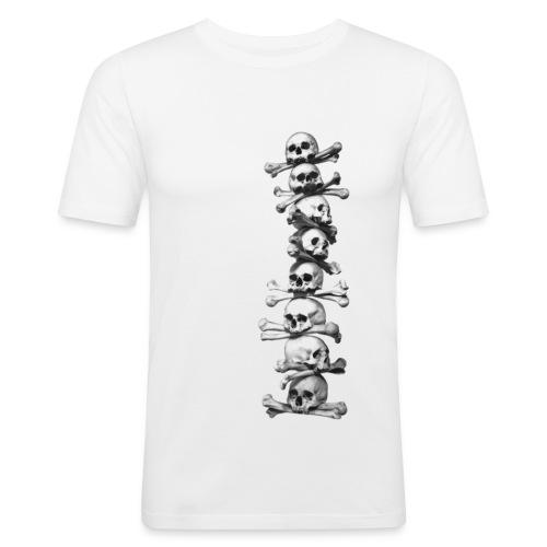 Skull T shirt - white - Men's Slim Fit T-Shirt