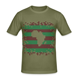 Africa in dots Men's - Men's Slim Fit T-Shirt