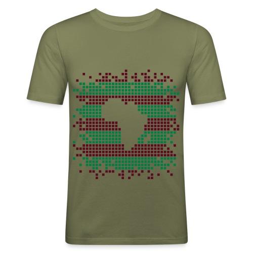 Africa in dots Men's - Men's Slim Fit T-Shirt