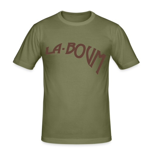 la-boum men logo-braun - Männer Slim Fit T-Shirt