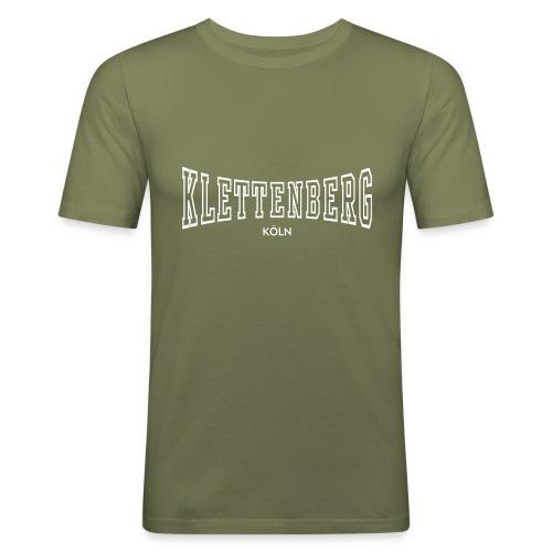 Klettenberg Outline Farbwahl (weißer Druck) - Männer Slim Fit T-Shirt