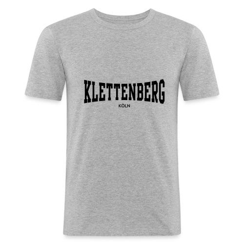 Klettenberg Shirt Farbwahl (schwarzer Druck) - Männer Slim Fit T-Shirt