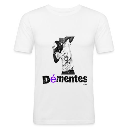 Démentes D1/H/White - T-shirt près du corps Homme