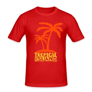 Tropical island slim - Herre Slim Fit T-Shirt