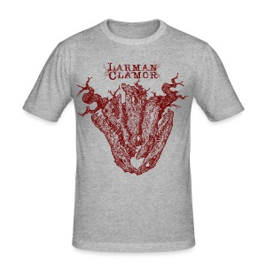 Larman Clamor Alligator Heart (grey) - Men's Slim Fit T-Shirt