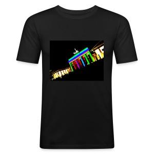 Illuminated Gate - Men Shirt - Männer Slim Fit T-Shirt