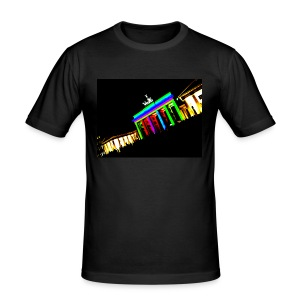 Illuminated Gate - Men Shirt - Männer Slim Fit T-Shirt